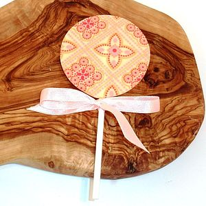 Chocolate Transfer Lolly - wedding favours