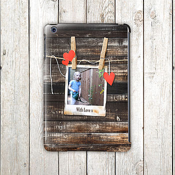 Personalised Wood Design Photo Case For iPad Mini, Air