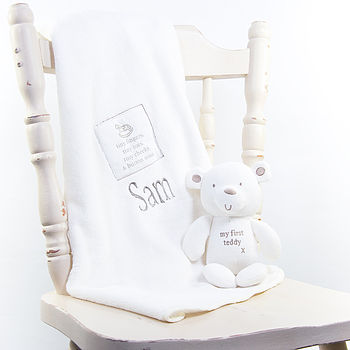 Comfort Blanket & Bear Set
