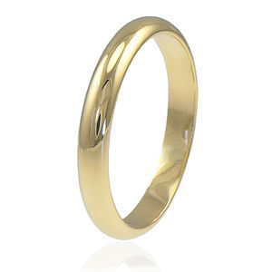 D Shape Wedding Ring In 18ct Gold - wedding jewellery