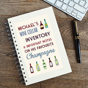 Personalised Communique Wine Notebook