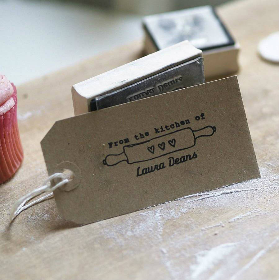 From The Kitchen Of Personalised Rubber Stamp By Pretty