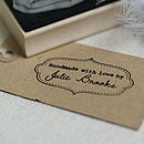 Personalised 'Handmade By' Rubber Stamp