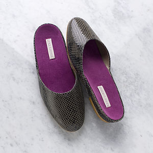 Luxury Leather Slippers - women's fashion