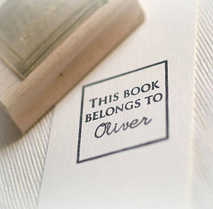 Personalised 'This Book Belongs To' Stamp - stationery & desk accessories