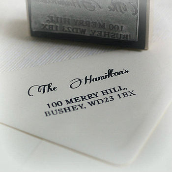 Personalised Address Rubber Stamp