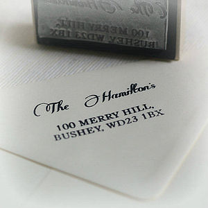 Personalised Address Rubber Stamp - diy stationery