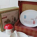 Kids Green Bunny Breakfast Set