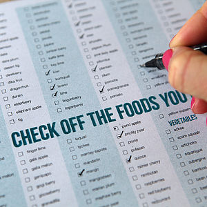 Food Checklist Poster - posters & prints