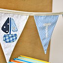 Boy's Personalised Sail Boat Bunting