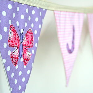 Personalised Girl's Butterfly Bunting - children's parties