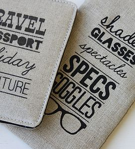 Typography Spectacle Case