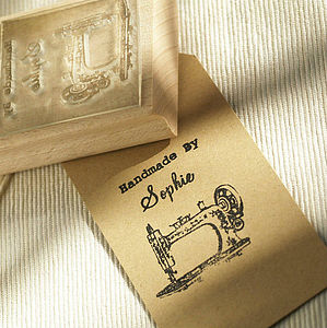 Sewing 'Handmade By' Personalised Stamp - stamps & inkpads