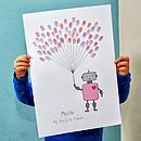Robot Fingerprint Balloon Poster