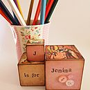 Three Vintage Nursery Blocks For Girls