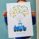 Train Fingerprint Balloon Poster