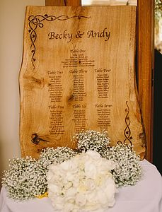 Personalised Oak Wedding Table Plan