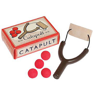 Toy Catapult With Four Foam Balls - games