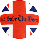 Upcycled Union Jack Cushion God Save Queen