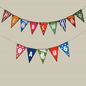 Welsh Birthday Bunting - bunting & garlands