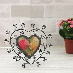 Scroll Heart Frame - art & pictures