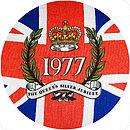 Vintage 1977 Union Jack Cushion