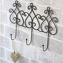 Set Of Three Decorative Wire Hooks