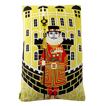 Vintage 1960s Beefeater London Cushion