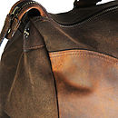 Eureka Leather And Canvas Holdall