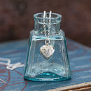 Silver Vintage Style Heart Necklace