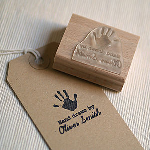 Personalised 'Hand Drawn By..' Stamp - stationery