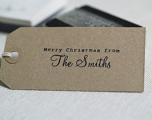 Personalised 'Merry Christmas From..' Stamp - stationery sale