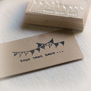 Personalised Bunting Stamp
