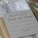 Advice For The Bride & Groom Coasters X 10