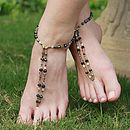 Beaded Foot Jewellery Smokey/ Black Shimmer