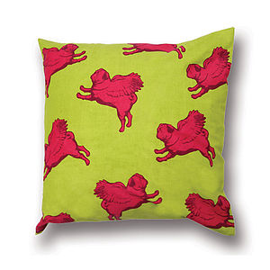 Flying Multi Pug Cushion Cover - decorative accessories