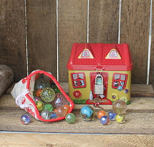 Tin Marble Cottage - traditional toys & games