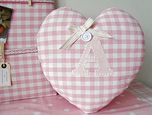 Personalised Handmade Nursery Heart Cushion - cushions