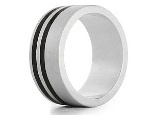 Dual Kindle Silver And Wood Ring - rings
