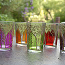"Set Of Six Moroccan Glass Votives ""Bab'"