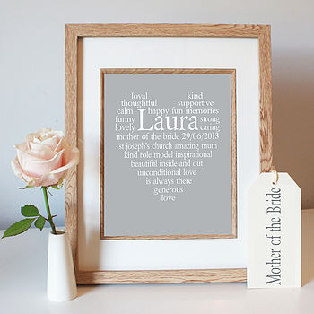 Mother of The Bride Framed Grey Print