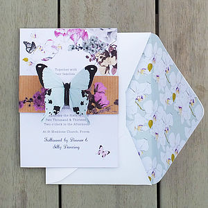 Midsummer Butterfly Invitation Set - invitations