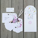 Midsummer Luxe Invitation Suite - White reverse inc address label