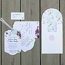 Midsummer Luxe Invitation Suite - White front open inc address label