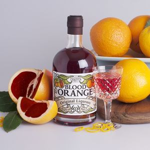 Personalised Blood Orange Liqueur - birthday gifts