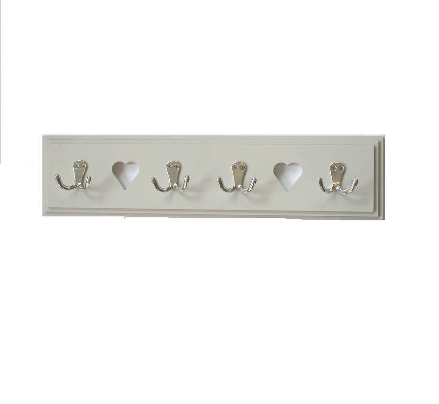 Heart Coat Hook Rack By Ella's Kitchen Company Ltd Adorable White Wooden Coat Rack