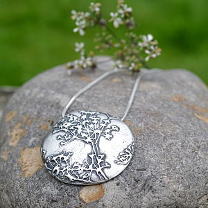Handmade Silver Cow Parsley Necklace