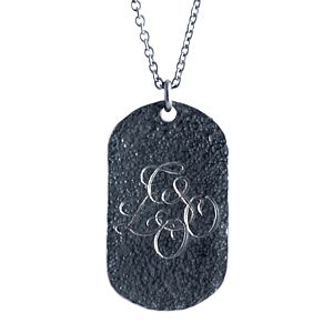 Personalised Oxydised Military Tag Necklace - necklaces & pendants
