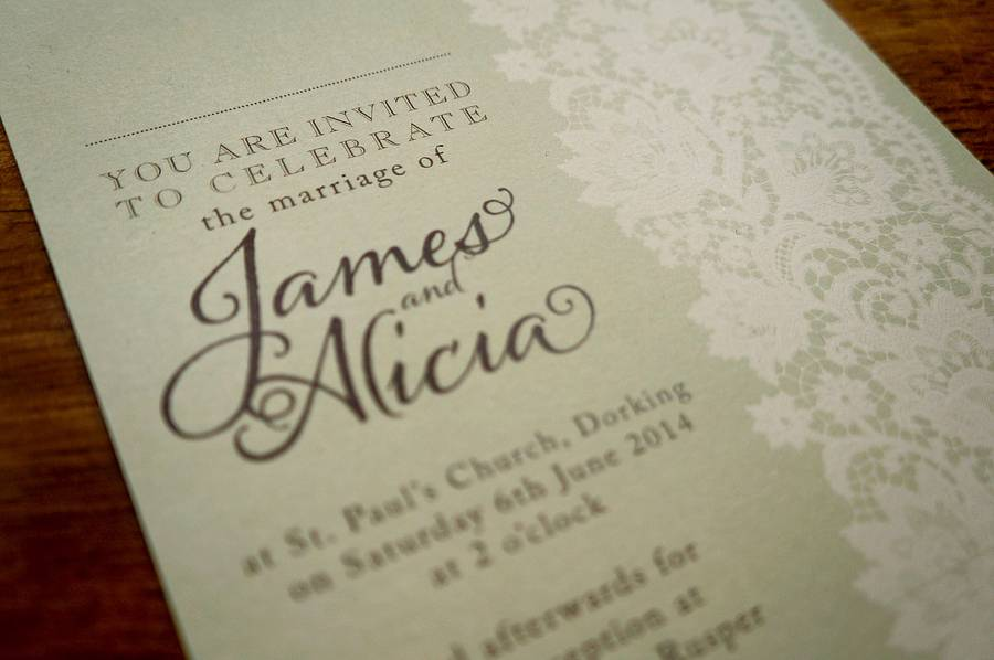 The best wedding invitation blog Vintage lace wedding invitations uk