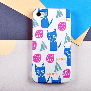 Meow Cat Pattern Case For iPhone 4